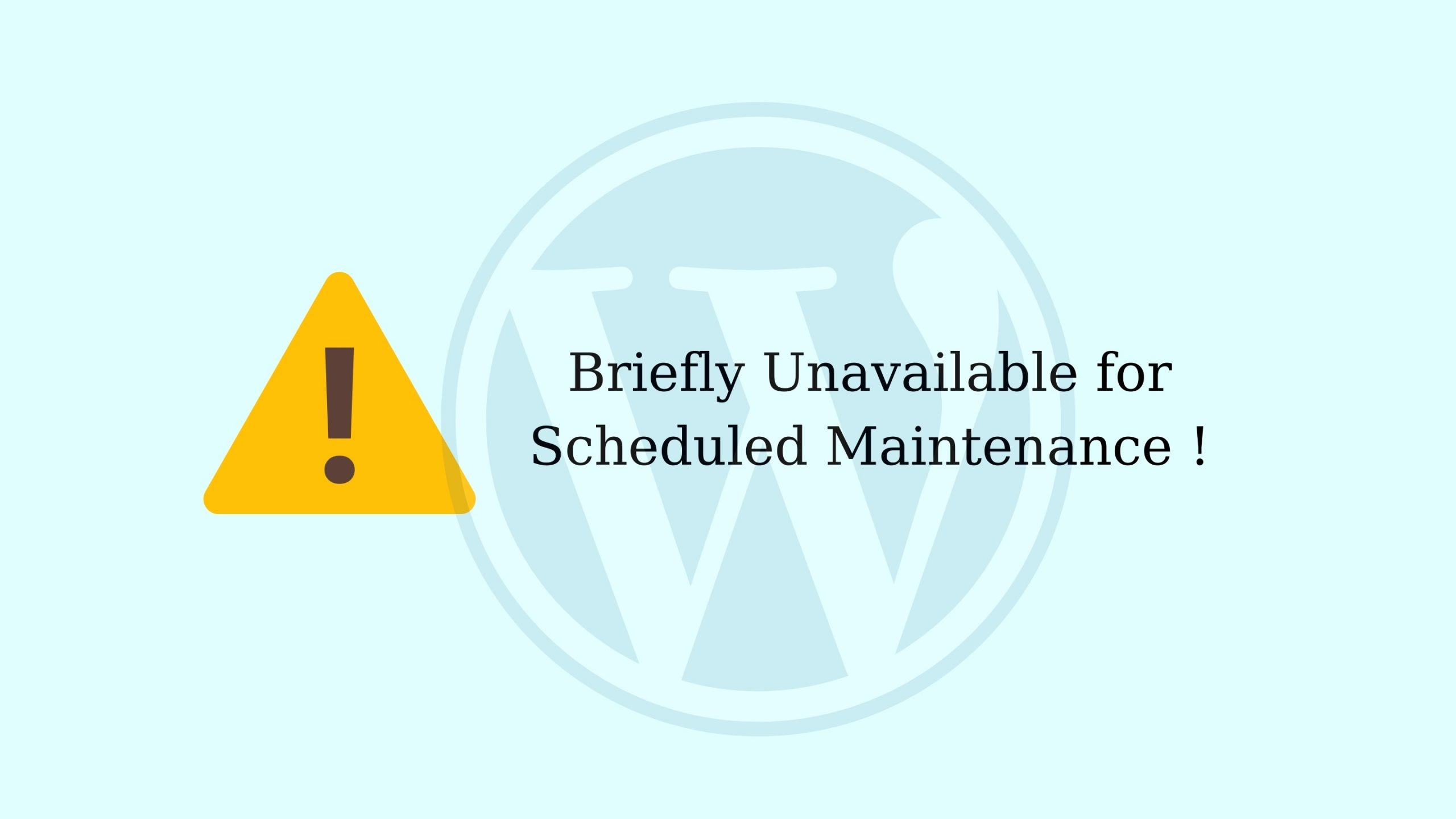 Khắc phục lỗi Briefly Unavailable for Scheduled Maintenance trong Wordpress